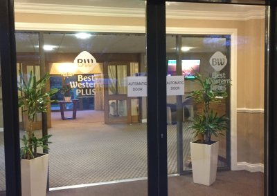 Best Western Hotel Window Graphics