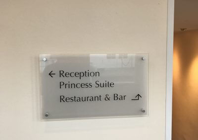 Acrylic Directional Sign for Hotel