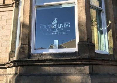 Country Living Hotel Window Graphics