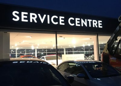 Illuminated Service Centre Sign