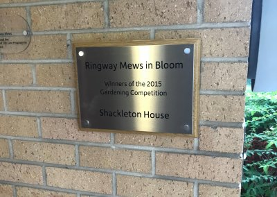 Plaque for HC One Care Home