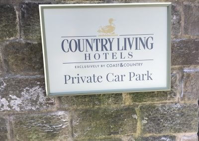 Country Living Private Car Park Sign