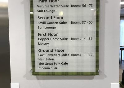 Internal Wayfinding Sign for Care Home