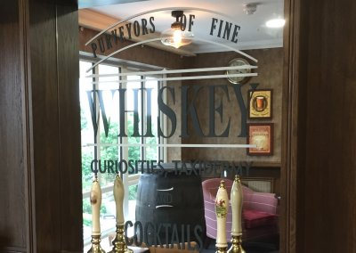 Whiskey Bar Window Graphics