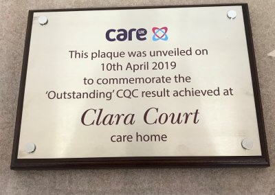 Care Home Plaque