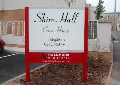 Shire Hall Post Mounted Sign
