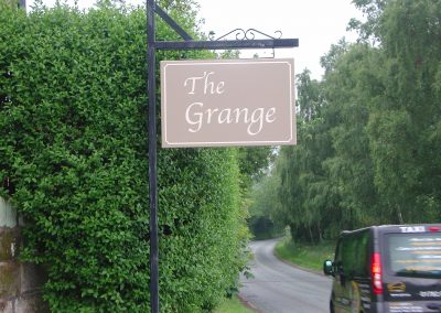 The Grange Projecting Sign
