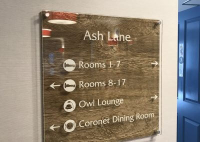Wayfinding Sign with Dementia Symbols