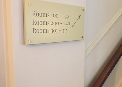 Wayfinding Sign for Hotel