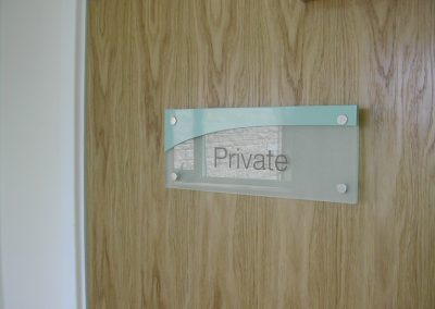 Acrylic Door Sign
