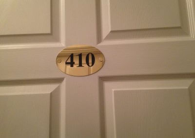 Brass Door Number Sign