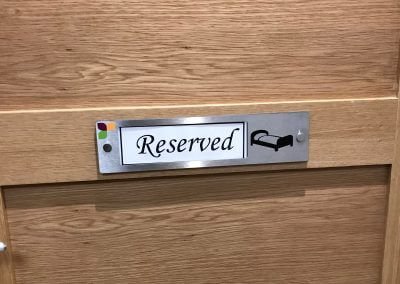 Changeable Door Name Plate