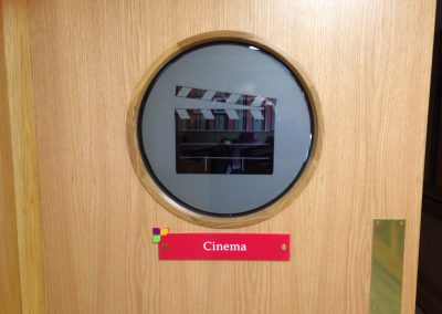 Cinema Door Sign