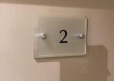 Stainless Steel Door Sign