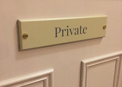 Wooden Private Door Sign