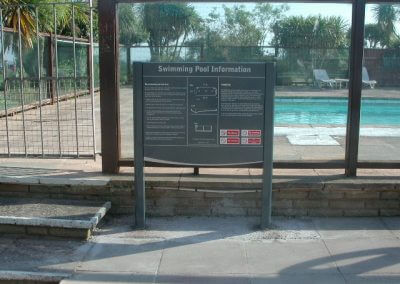 Post Mounted Swimming Pool Sign