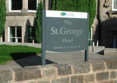 St George Wall Mounted Hotel Sign