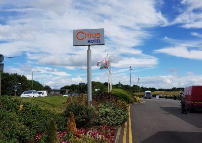 Citrus Hotel Totem Signage