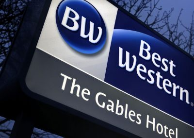 Gables Hotel Post Mounted Sign