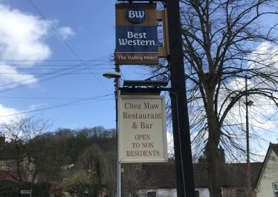 Best Western Wooden Projecting Sign