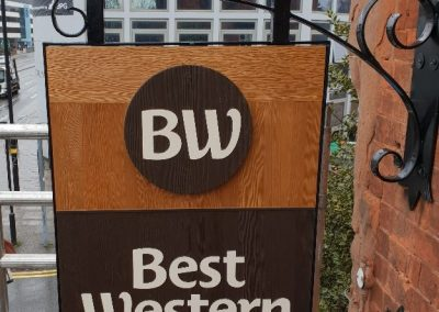 Traditional Wooden Hotel Sign