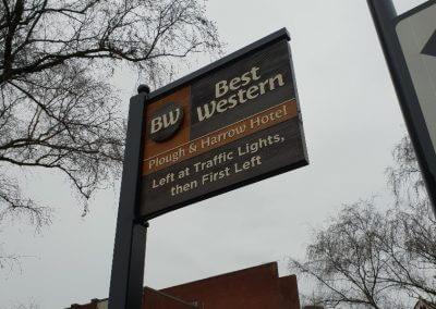 Best Western Wooden Sign