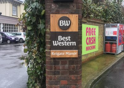 Best Western Hand Made Wooden Sign