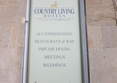 Country Living Hotels Sign