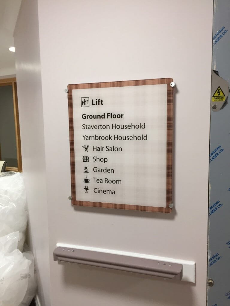 dementia friendly signage