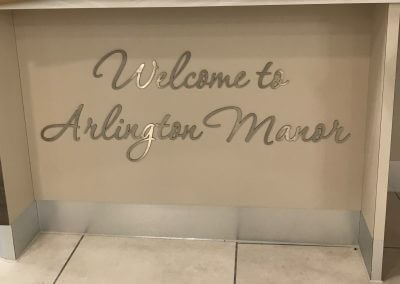 Arlington Manor Flat Cut Lettering
