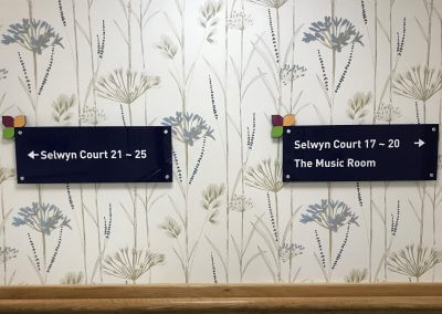 Court Number Signs