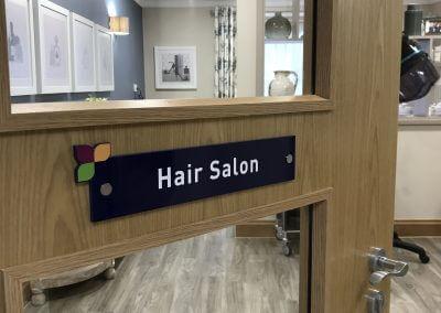 Hair Salon Door Sign