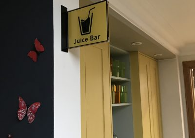 Juice Bar Projecting Sign