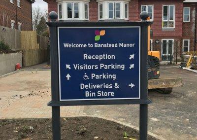 Banstead Manor car park sign