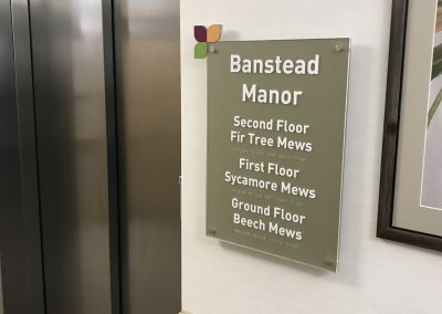 Banstead Manor care home sign