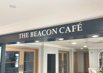 Cafe sign marble letters