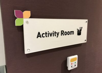 Dementia activity room sign