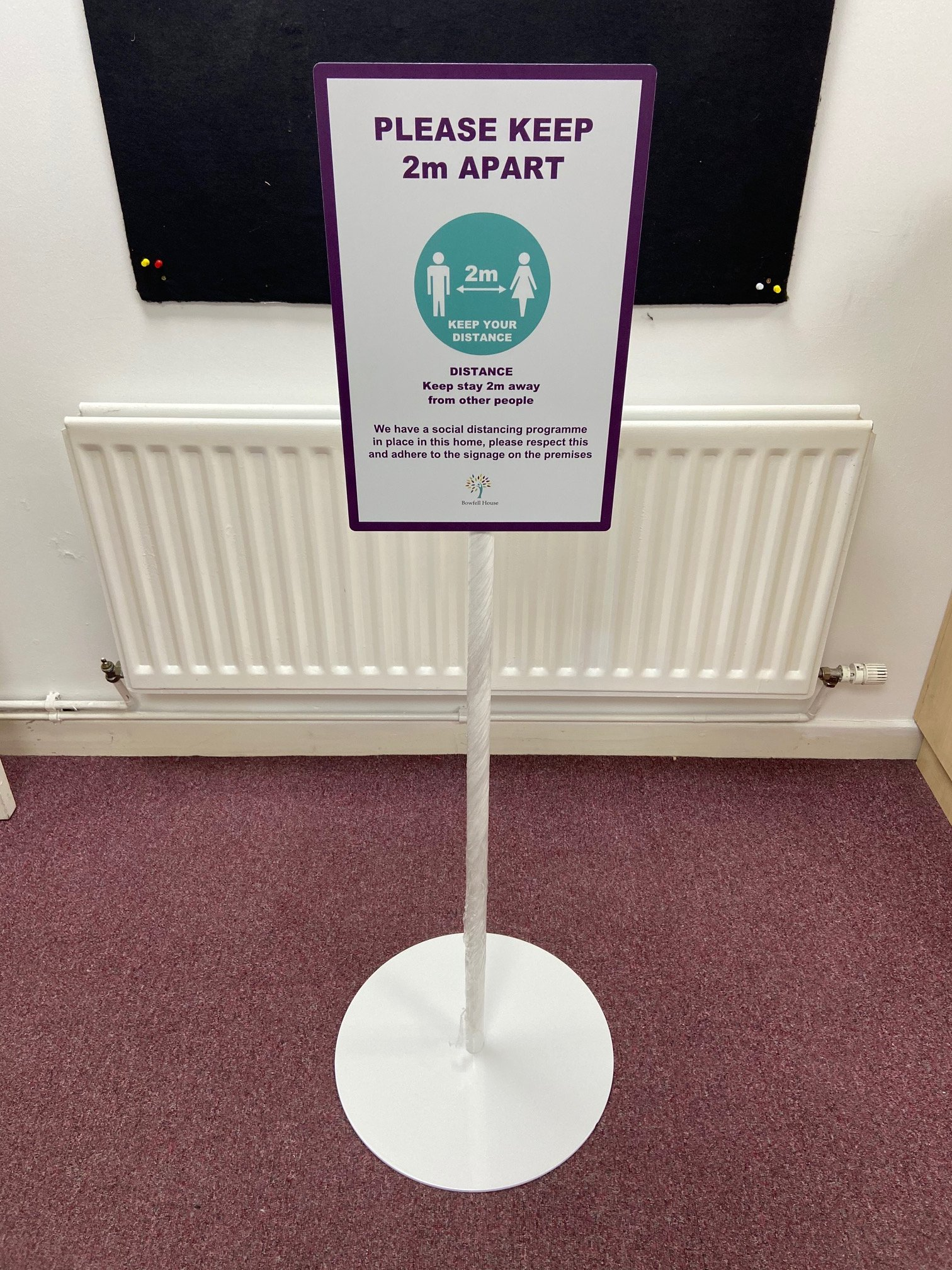 Covid Free Standing Sign