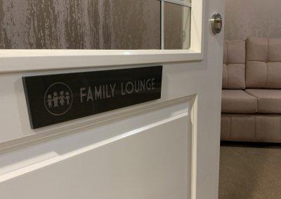 Family Room Door Sign