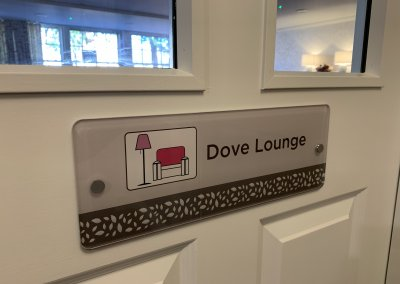 DEMENTIA LOUNGE SIGN