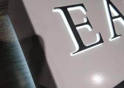 Push Through Letters illuminated sign daytime
