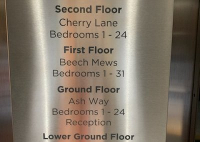 Stainless steel lift directory