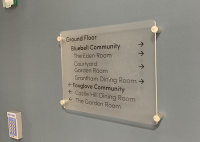 Care Home wall mounted signage