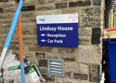 Care Home Wall mounted sign
