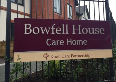 Care Home Signage - railing mounted