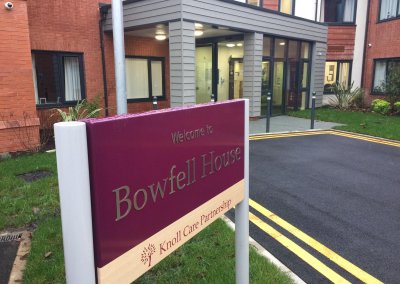 Care Home signage - Post Mounted