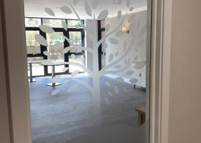 care home internal window graphics