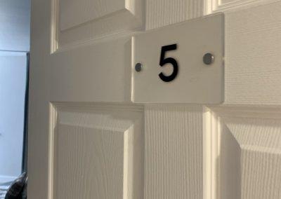 care home door numbers