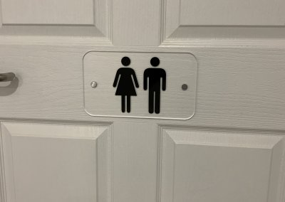 care home sign toilet