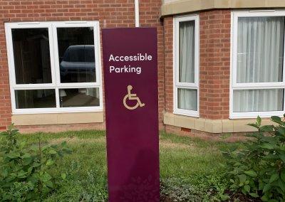 Care Home Car park sign